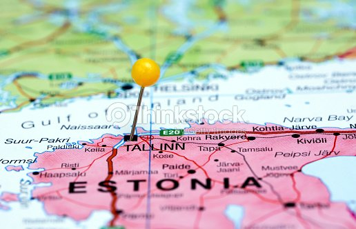 Tallinn pinned on a map of europe stock photo thinkstock tallinn pinned on a map of europe stock photo gumiabroncs Gallery