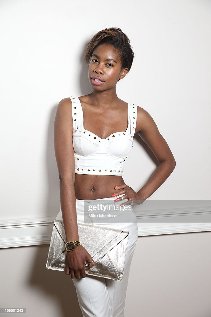 Tallulah Adeyemi poses for Stella/Esquire Portrait Studio at Somerset House on May 29, 2013 in London, England.