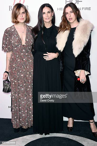 Tallulah Belle Willis Demi Moore and Scout LaRue Willis attend the Harper's Bazaar Celebrates 150 Most Fashionable Women at Sunset Tower on January...