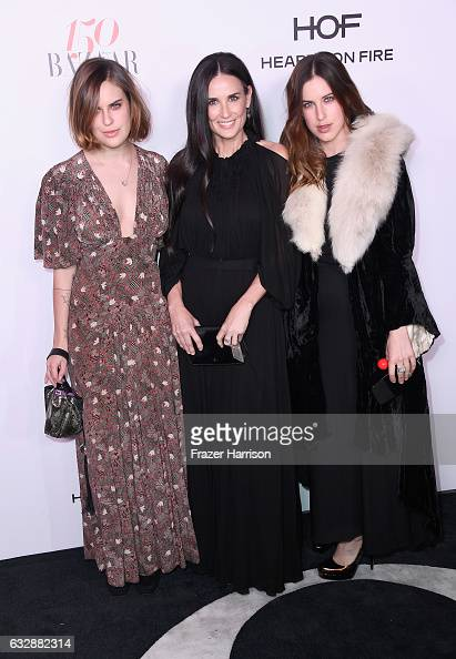Tallulah Belle Willis Demi Moore and Scout Willis attend Harper's BAZAAR celebration of the 150 Most Fashionable Women presented by TUMI in...