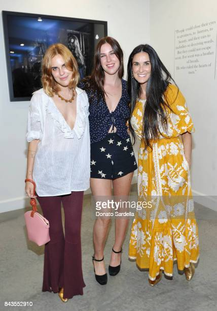 Tallulah Belle Willis Scout LaRue Willis Demi Moore and celebrity floral and fragrance designer Eric Buterbaugh attend the private opening of Sascha...