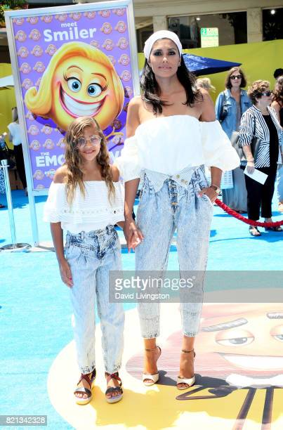 Tallulah Dash and Rachel Roy attend the premiere of Columbia Pictures and Sony Pictures Animation's 'The Emoji Movie' at Regency Village Theatre on...