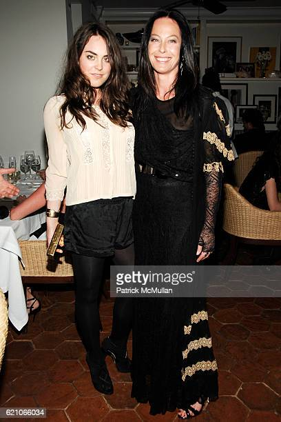 Tallulah Harlech and Lady Amanda Harlech attend CHANEL Private Dinner for KARL LAGERFELD at Casa Tua on May 14 2008 in Miami Beach FL