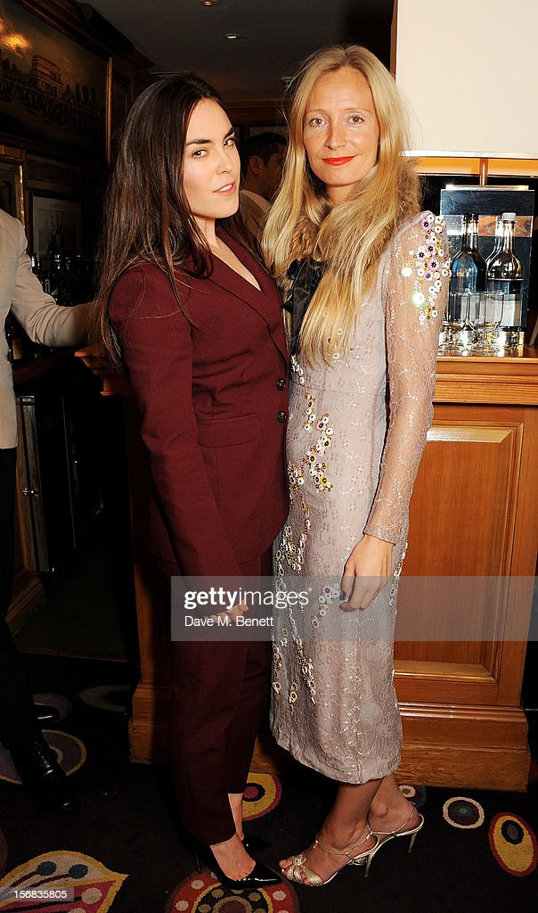 Tallulah Harlech (L) and Martha Ward attend a launch hosted by The Vinyl Factory of Bryan Ferry's new album 'The Jazz Age' at Annabelson November 22, 2012 in London, England.
