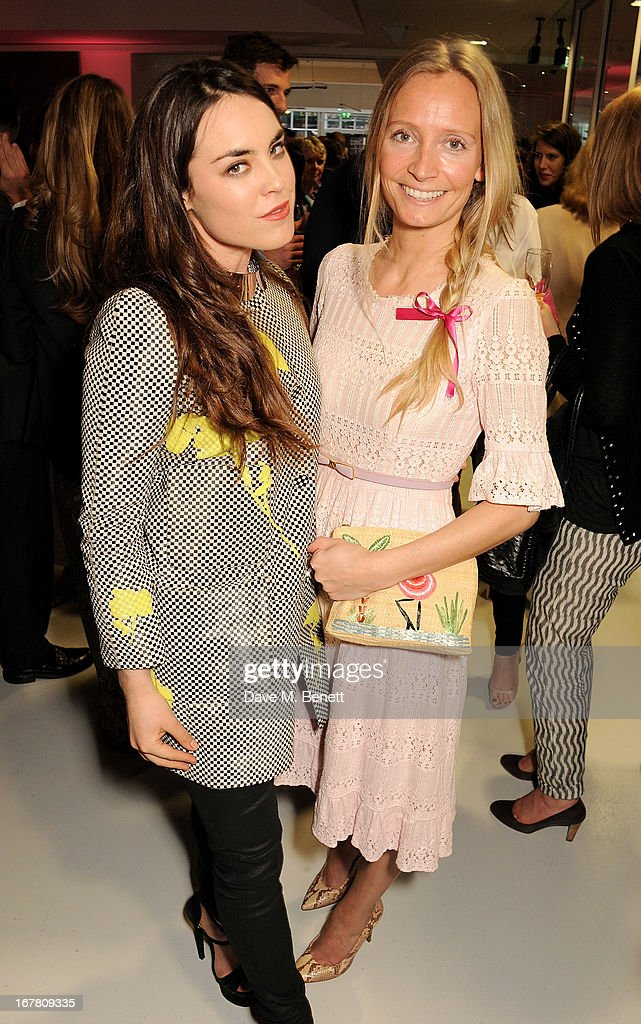 Tallulah Harlech (L) and Martha Ward attend the Conde Nast College of Fashion & Design opening party at 16/17 Greek Street on April 30, 2013 in London, England.