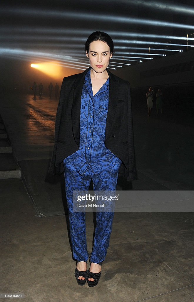Tallulah Harlech arrives at the Warner Music Group Pre-Olympics Party in the Southern Tanks Gallery at the Tate Modern on July 26, 2012 in London, England.