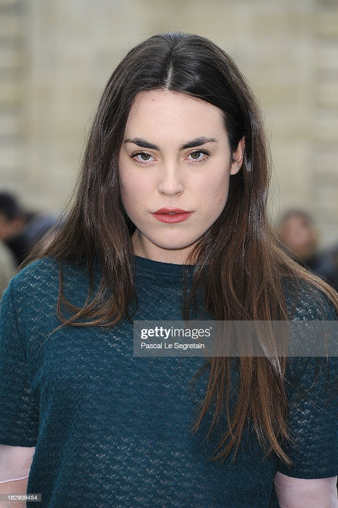 Tallulah Harlech arrives to attend the Christian Dior Fall/Winter 2013 Ready-to-Wear show as part of Paris Fashion Week on March 1, 2013 in Paris, France.