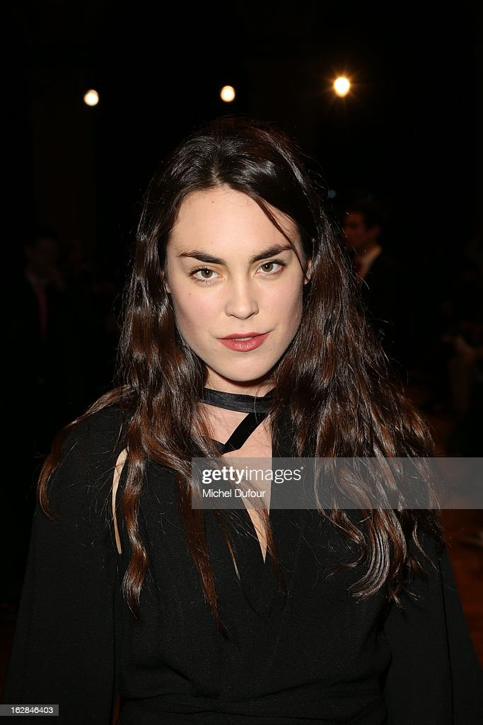 <a gi-track='captionPersonalityLinkClicked' href=/galleries/search?phrase=Tallulah+Harlech&family=editorial&specificpeople=5521162 ng-click='$event.stopPropagation()'>Tallulah Harlech</a> attends the Balmain Fall/Winter 2013 Ready-to-Wear show as part of Paris Fashion Week on February 28, 2013 in Paris, France.