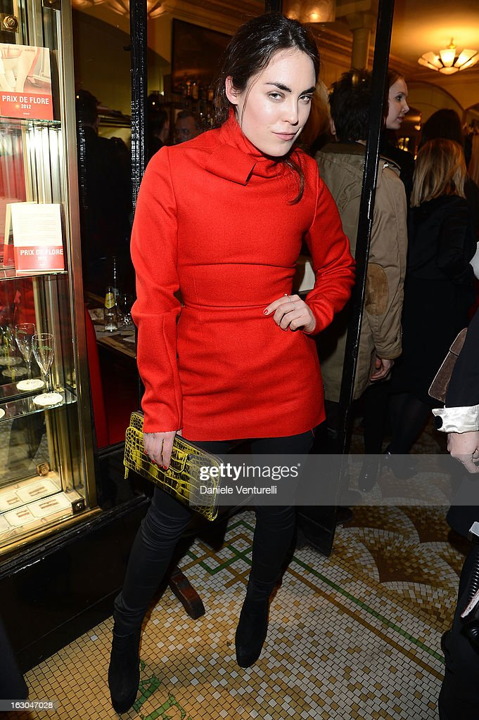 Tallulah Harlech attends the Bulgari And Purple Magazine Party at Cafe de Flore on March 3, 2013 in Paris, France.