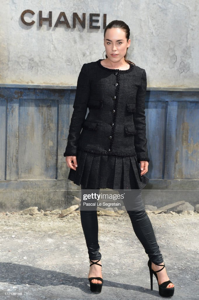 Tallulah Harlech attends the Chanel show as part of Paris Fashion Week Haute-Couture Fall/Winter 2013-2014 at Grand Palais on July 2, 2013 in Paris, France.