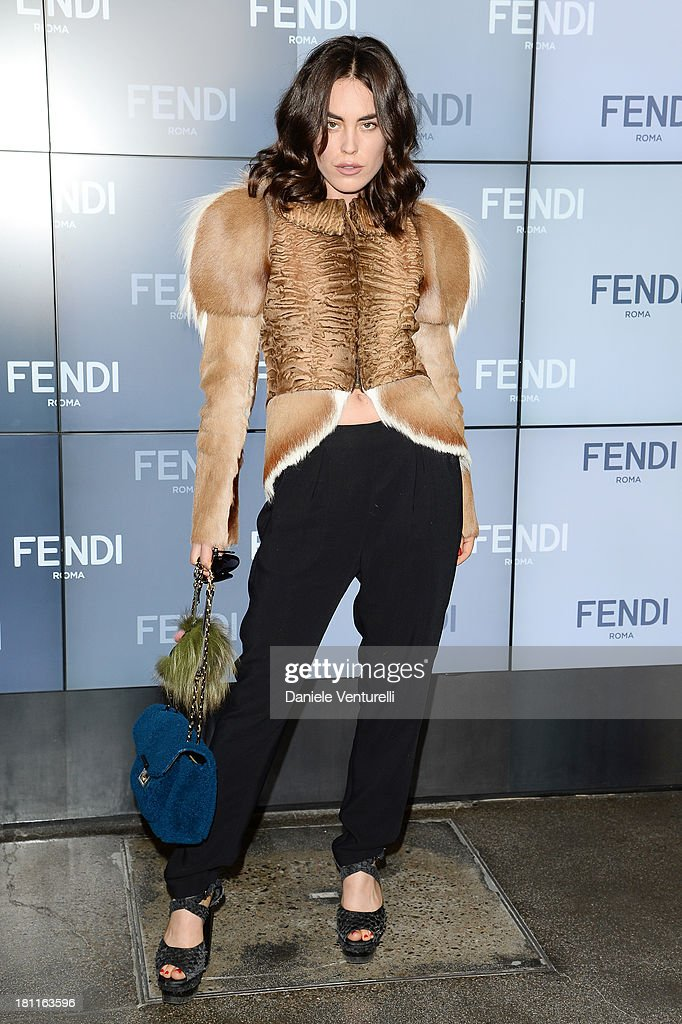 <a gi-track='captionPersonalityLinkClicked' href=/galleries/search?phrase=Tallulah+Harlech&family=editorial&specificpeople=5521162 ng-click='$event.stopPropagation()'>Tallulah Harlech</a> attends the Fendi show as a part of Milan Fashion Week Womenswear Spring/Summer 2014 on September 19, 2013 in Milan, Italy.