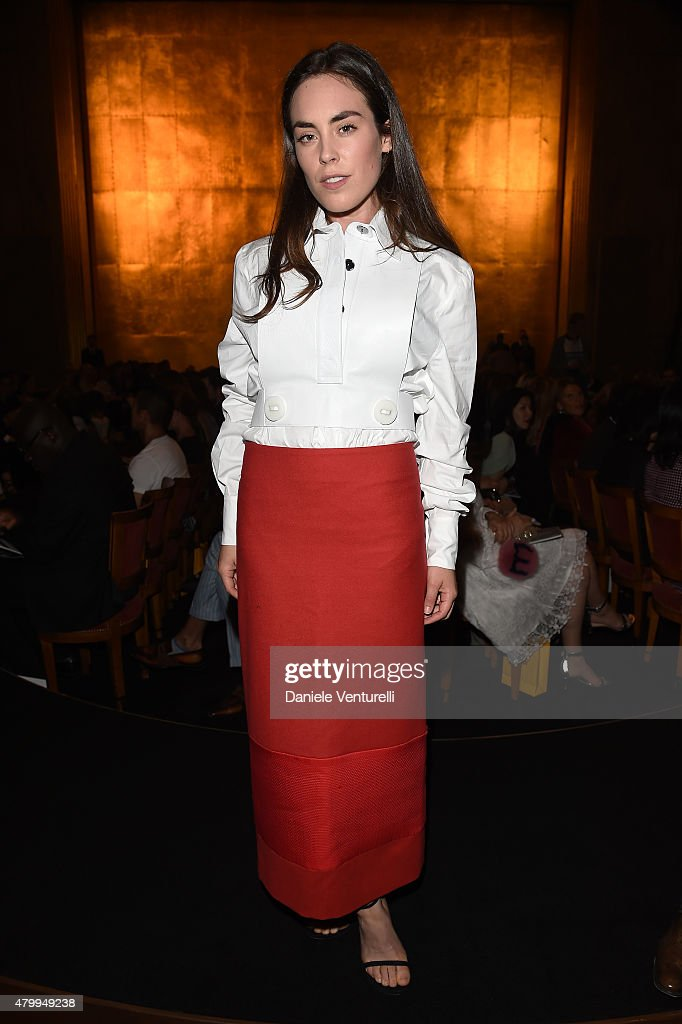 <a gi-track='captionPersonalityLinkClicked' href=/galleries/search?phrase=Tallulah+Harlech&family=editorial&specificpeople=5521162 ng-click='$event.stopPropagation()'>Tallulah Harlech</a> attends the Fendi show as part of Paris Fashion Week Haute Couture Fall/Winter 2015/2016 on July 8, 2015 in Paris, France.