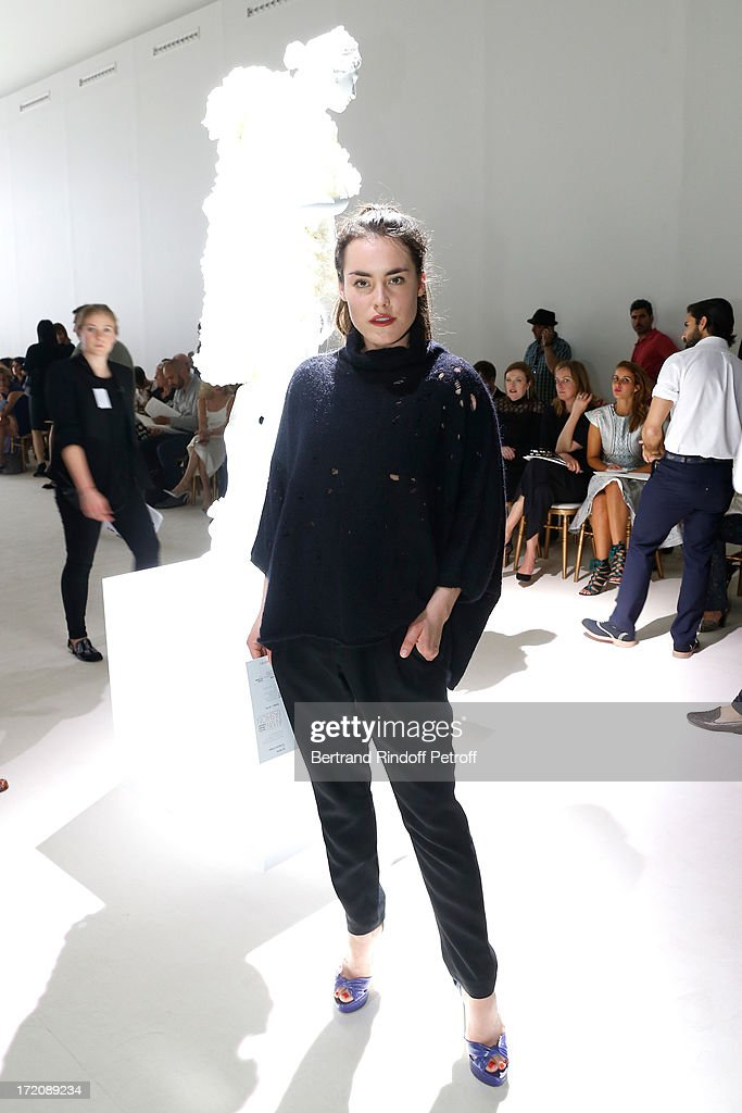 <a gi-track='captionPersonalityLinkClicked' href=/galleries/search?phrase=Tallulah+Harlech&family=editorial&specificpeople=5521162 ng-click='$event.stopPropagation()'>Tallulah Harlech</a> attends the Giambattista Valli show as part of Paris Fashion Week Haute-Couture Fall/Winter 2013-2014 on July 1, 2013 in Paris, France.