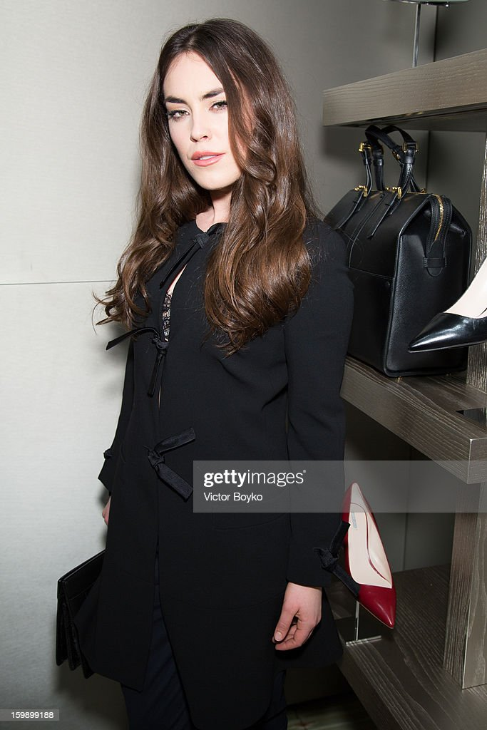 Tallulah Harlech attends the Giorgio Armani Paris avenue Montaigne boutique opening on January 22, 2013 in Paris, France.
