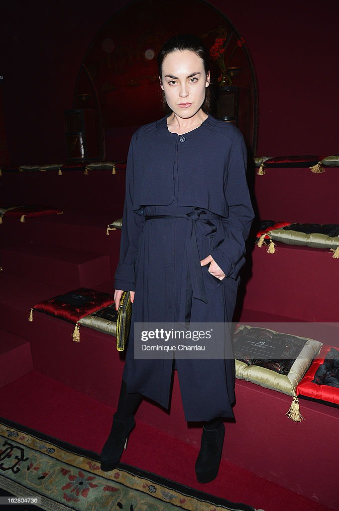 Tallulah Harlech attends the H&M Fashion Show Fall/Winter 2013 Ready-to-Wear show as part of Paris Fashion Week on February 27, 2013 in Paris, France.