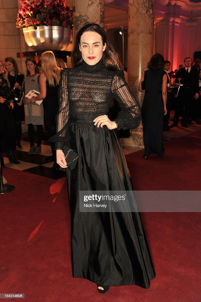 Tallulah harlech attends the Hollywood Costume gala dinner the at Victoria & Albert Museum on October 16, 2012 in London, England.