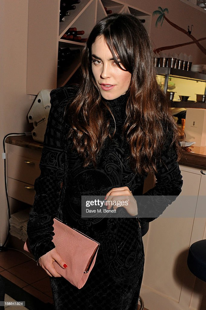 Tallulah Harlech attends the Katie Grand & Olivier Rousteing LOVE Christmas Party, hosted by Balmain, at Shrimpy's on December 18, 2012 in London, England.