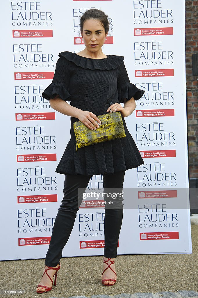 Tallulah Harlech attends the launch party for the Fashion Rules exhibition, a collection of dresses worn by HRH Queen Elizabeth II, Princess Margaret and Diana, Princess of Wales at Kensington Palace on July 4, 2013 in London, England.