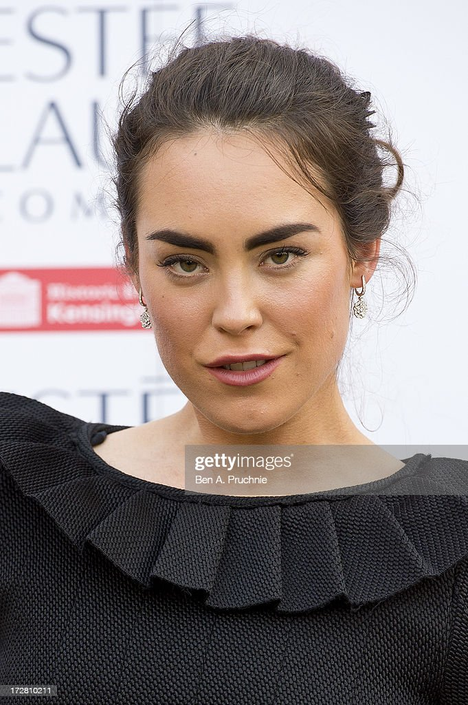 <a gi-track='captionPersonalityLinkClicked' href=/galleries/search?phrase=Tallulah+Harlech&family=editorial&specificpeople=5521162 ng-click='$event.stopPropagation()'>Tallulah Harlech</a> attends the launch party for the Fashion Rules exhibition, a collection of dresses worn by HRH Queen Elizabeth II, Princess Margaret and Diana, Princess of Wales at Kensington Palace on July 4, 2013 in London, England.