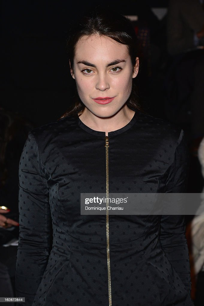 <a gi-track='captionPersonalityLinkClicked' href=/galleries/search?phrase=Tallulah+Harlech&family=editorial&specificpeople=5521162 ng-click='$event.stopPropagation()'>Tallulah Harlech</a> attends the Nina Ricci Fall/Winter 2013 Ready-to-Wear show as part of Paris Fashion Week on February 28, 2013 in Paris, France.