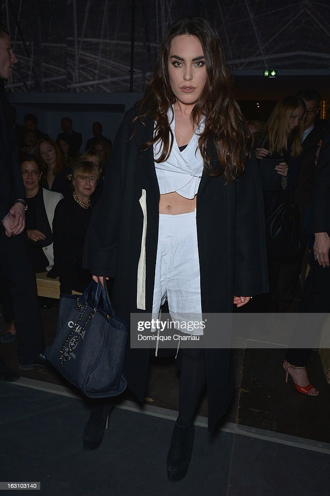 Tallulah Harlech attends the Saint Laurent Fall/Winter 2013 Ready-to-Wear show as part of Paris Fashion Week on March 4, 2013 in Paris, France.