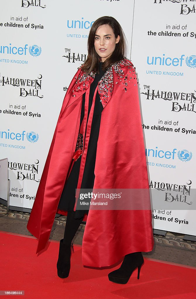<a gi-track='captionPersonalityLinkClicked' href=/galleries/search?phrase=Tallulah+Harlech&family=editorial&specificpeople=5521162 ng-click='$event.stopPropagation()'>Tallulah Harlech</a> attends The UNICEF Halloween Ball at One Mayfair on October 31, 2013 in London, England.