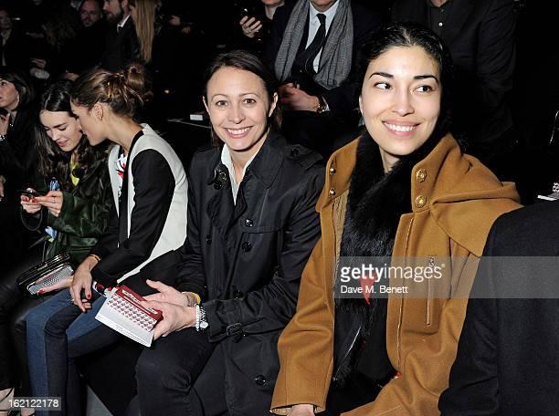 Tallulah Harlech Olivia Palermo Caroline Rush and Caroline Issa attend the Anya Hindmarch Autumn/Winter 2013 presentation during London Fashion Week...