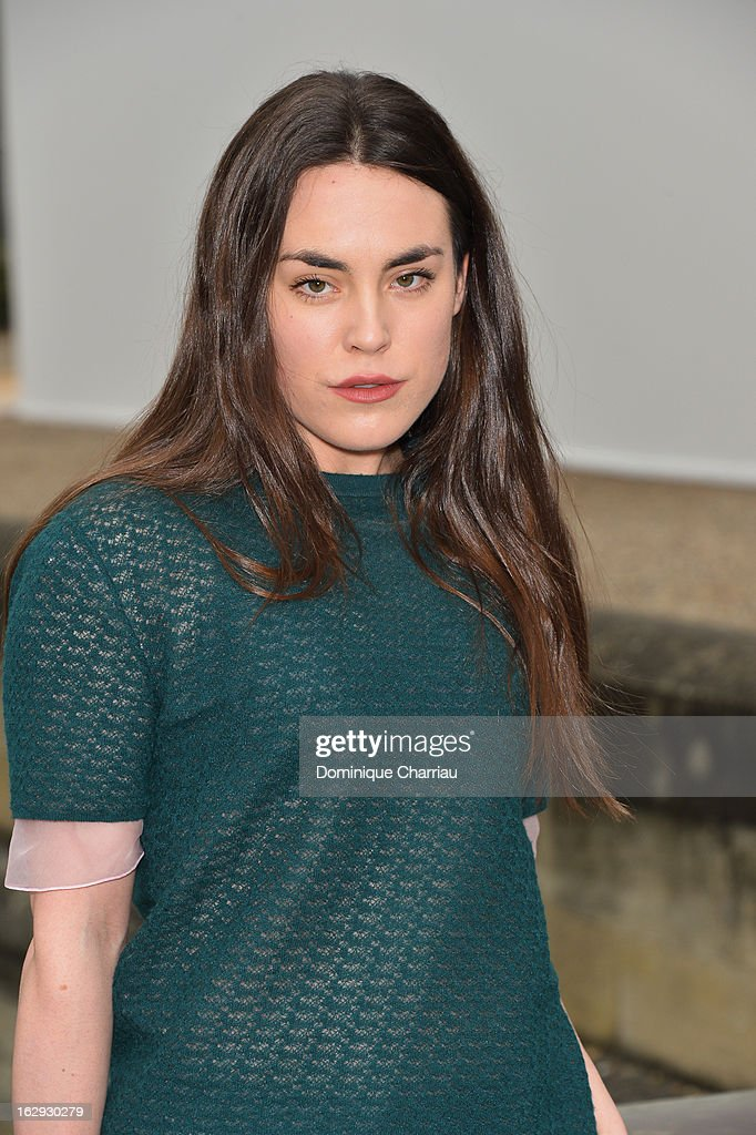 Tallulah Harlech poses as she arrives at the Christian Dior Fall/Winter 2013 Ready-to-Wear show as part of Paris Fashion Week on March 1, 2013 in Paris, France.