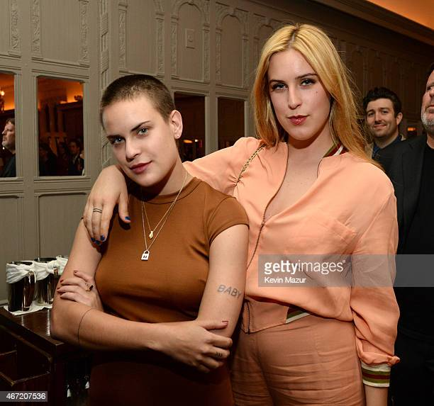 Tallulah Willis and Scout Willis celebrate Bruce Willis' 60th birthday at Harlow on March 21 2015 in New York City