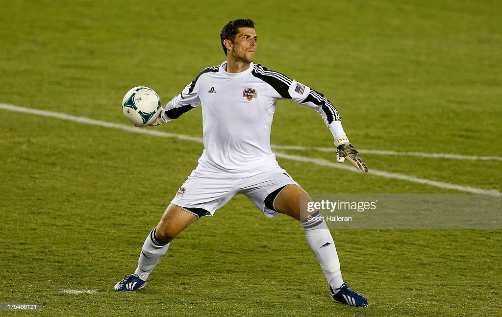 Tally Hall #1 of the Houston Dynamo in action against the Chicago Fire at BBVA Compass Stadium on July 27, 2013 in Houston, Texas.