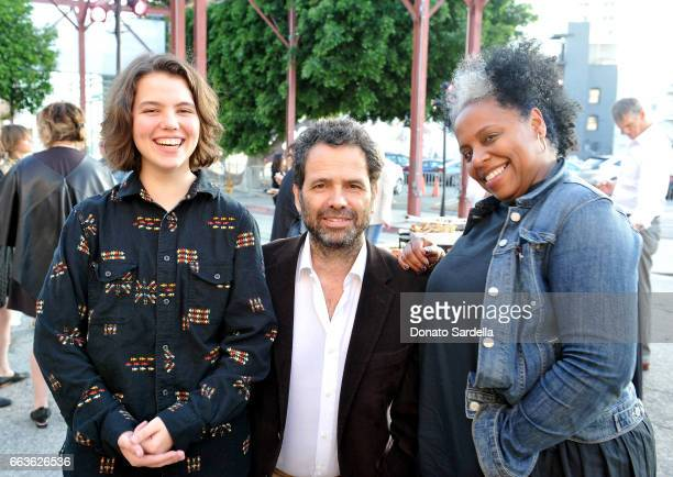Talulah Brown Gavin Brown and Elisa Moorehead attend MOCA's Leadership Circle and Members' Opening of 'Carl Andre Sculpture as Place 19582010' and...