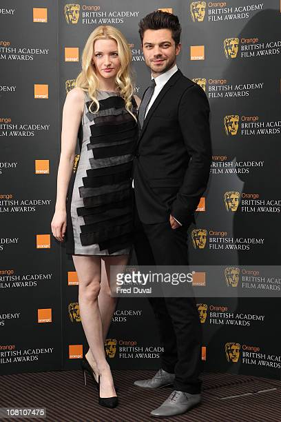 Talulah Riley and Dominic Cooper attend the nomination announcement of 2011 Orange British Academy Film Awards at BAFTA on January 18 2011 in London...