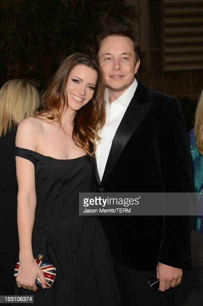 Talulah Riley and Elon Musk arrive at the 22nd Annual Environmental Media Awards on Saturday Sept 29 at Warner Bros Studios in Burbank Calif