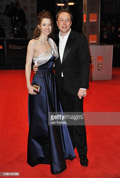 Talulah Riley and Elon Musk attend the 2011 Orange British Academy Film Awards at The Royal Opera House on February 13 2011 in London England