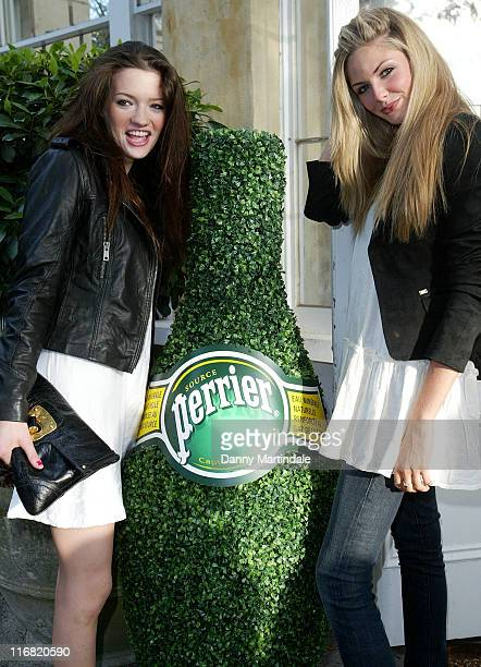 COVERAGE** Talulah Riley and Tamsin Egerton attends the Boujis Garden Party on July 6 2008 in London England