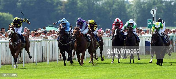 Tamagin ridden by Fergus Sweeney goes on to win the Totequadpot Heritage Handicap Stakes at Royal Windsor Racecourse on June 27 2009 in Windsor...