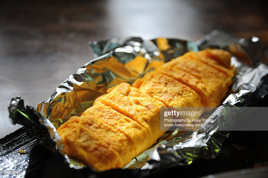 Tamago (Japanese egg omelette) : Stock Photo