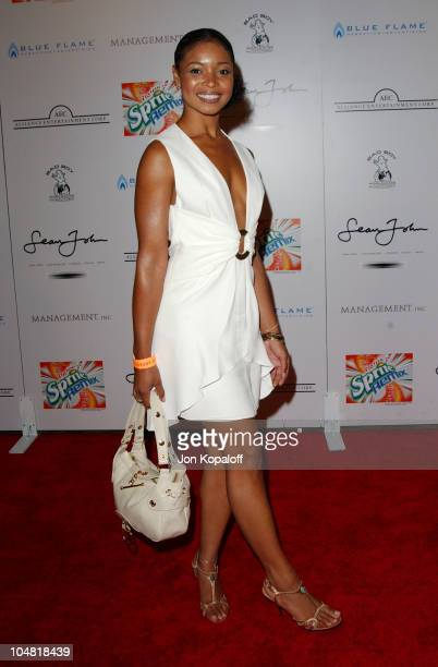 Tamala Jones during P Diddy Hosts 2003 MTV Movie Awards AfterParty at Private Residence in Beverly Hills California United States