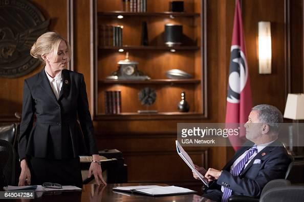 COLONY 'Tamam Shud' Episode 209 Pictured Ally Walker as Helena Tony Plana as Proxy Alcala