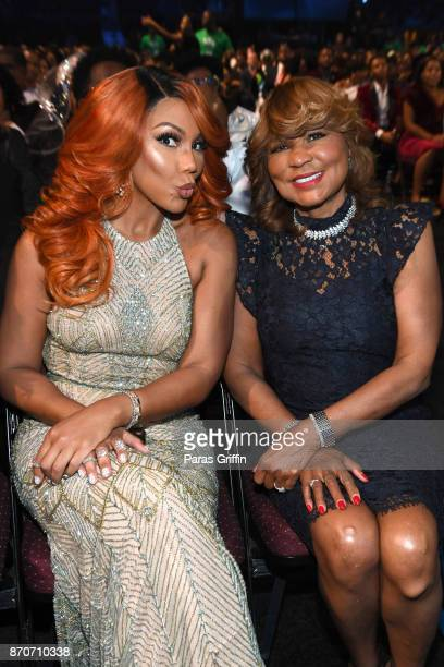Tamar Braxton and Evelyn Braxton attend the 2017 Soul Train Awards presented by BET at the Orleans Arena on November 5 2017 in Las Vegas Nevada