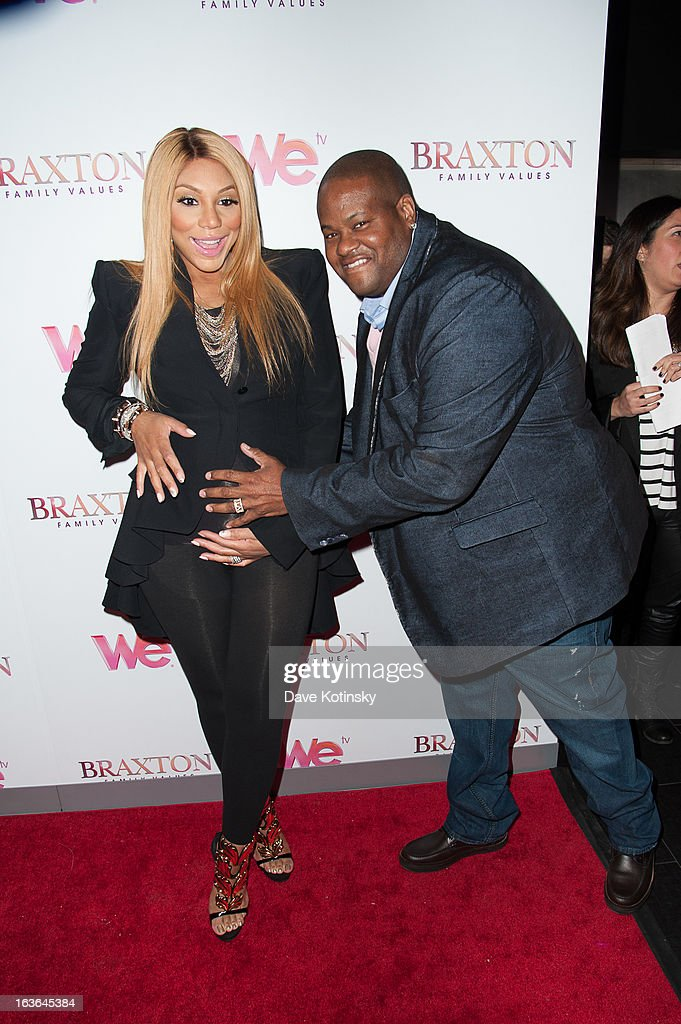 <a gi-track='captionPersonalityLinkClicked' href=/galleries/search?phrase=Tamar+Braxton&family=editorial&specificpeople=2079619 ng-click='$event.stopPropagation()'>Tamar Braxton</a> (L) and husband Vince Herbert attend the 'Braxton Family Values' Season Three premiere party at STK Rooftop on March 13, 2013 in New York City.