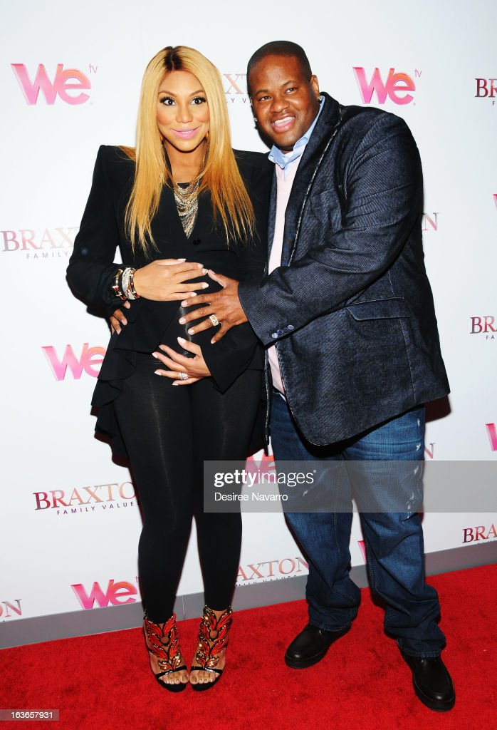 <a gi-track='captionPersonalityLinkClicked' href=/galleries/search?phrase=Tamar+Braxton&family=editorial&specificpeople=2079619 ng-click='$event.stopPropagation()'>Tamar Braxton</a> and songwriter Vincent Herbert attend the 'Braxton Family Values' Season Three premiere party at STK Rooftop on March 13, 2013 in New York City.