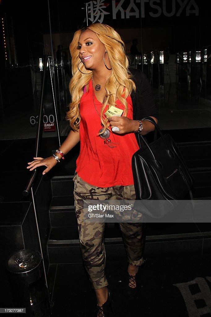 Tamar Braxton as seen on July 10, 2013 in Los Angeles, California.