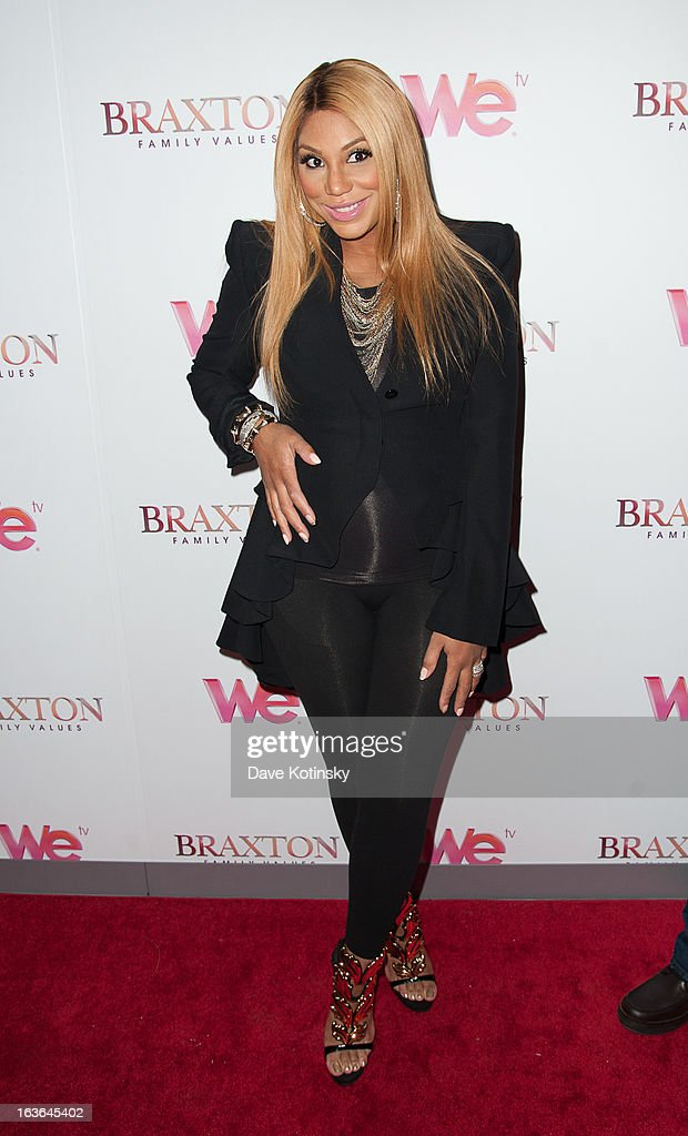 Tamar Braxton attend the 'Braxton Family Values' Season Three premiere party at STK Rooftop on March 13, 2013 in New York City.