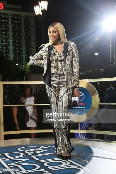 Tamar Braxton attends 2014 Soul Train Music Awards on November 7 2014 in Las Vegas Nevada