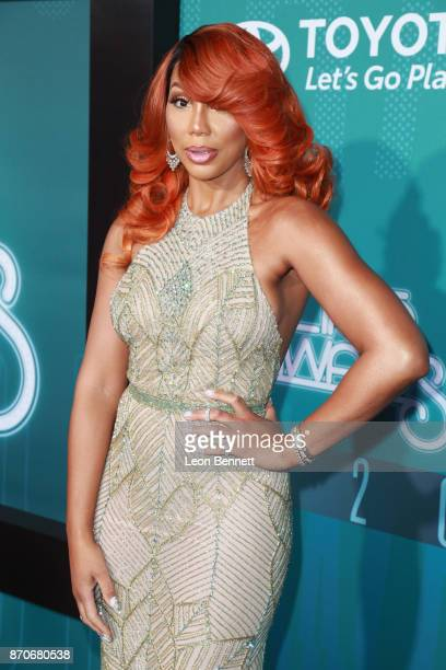 Tamar Braxton attends the 2017 Soul Train Awards presented by BET at the Orleans Arena on November 5 2017 in Las Vegas Nevada