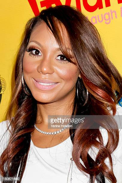 Tamar Braxton attends TV Land and First AME Church screening of 'The Soul Man' at First AME Church on August 26 2012 in Los Angeles California