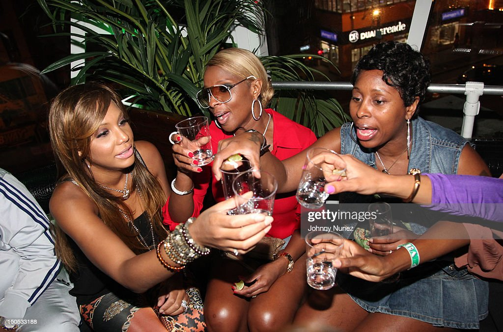 <a gi-track='captionPersonalityLinkClicked' href=/galleries/search?phrase=Tamar+Braxton&family=editorial&specificpeople=2079619 ng-click='$event.stopPropagation()'>Tamar Braxton</a>, Mary J Blige and Latonya Blige attend Don Pooh's Birthday Party at Copacabana on August 19, 2012 in New York City.