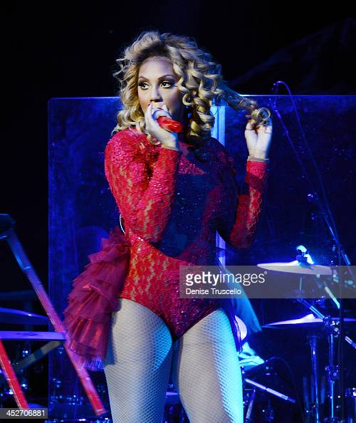 Tamar Braxton performs at the Pearl at Palms Casino Resort on November 30 2013 in Las Vegas Nevada
