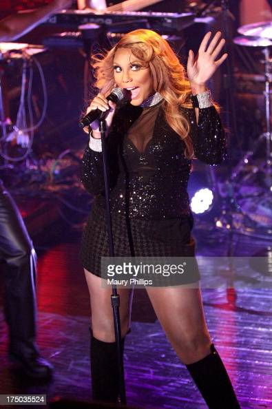 Tamar Braxton performs during her LA Showcase sponsored by Myx Moscato at the Emerson Theatre on July 29 2013 in Hollywood California